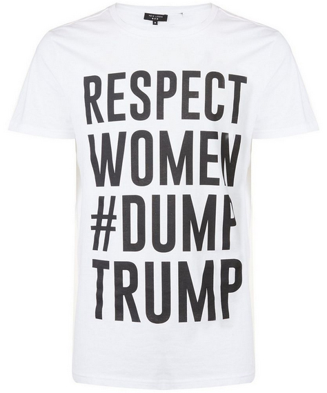 dump trump tshirt from new look