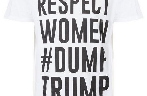 dump trump tshirt from new look