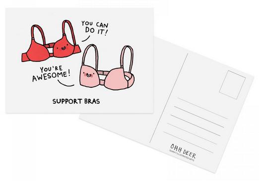 gemma correll support postcard