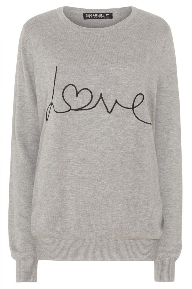 love sweater from sugarhill boutique