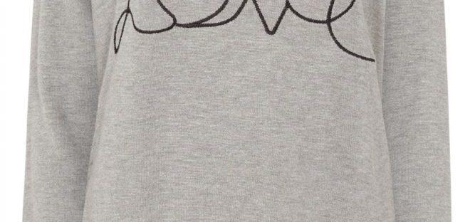 love sweater from sugarhill boutique