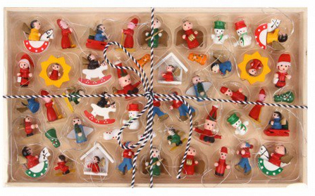 mini wooden ornaments from paperchase