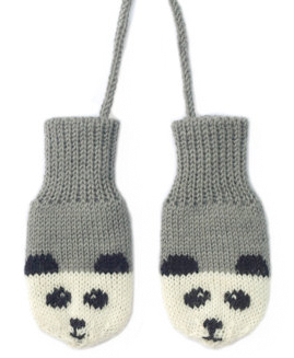panda mittens from button and blue