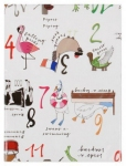 12 days of christmas table cloth from paperchase