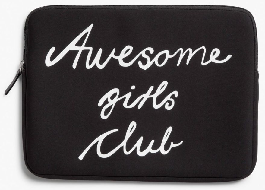 awesome girls club laptop case from monki