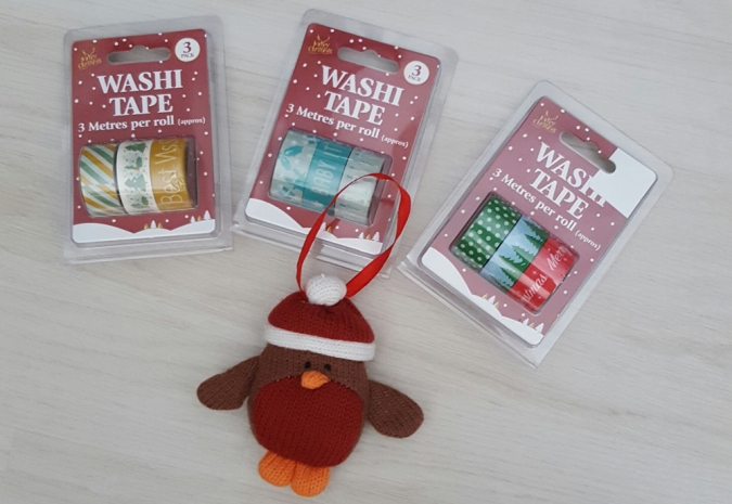 christmas washi tape from poundland