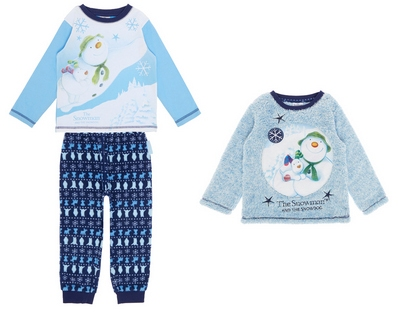 snowman and snowdog pjs from sainsburys