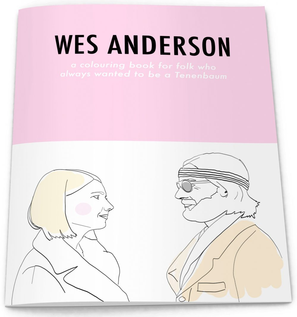 item of the day wes anderson colouring book from la la. Black Bedroom Furniture Sets. Home Design Ideas