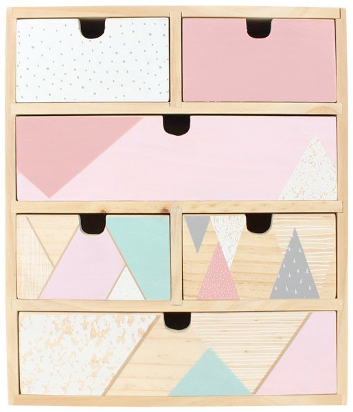 pastel mini chest of drawers from magic tree