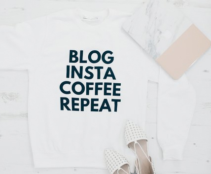 blogger sweatshirt from coconut lane