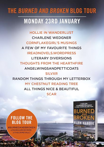 burned and broken blog tour banner