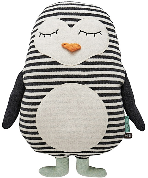 penguin cushion from oliver bonas