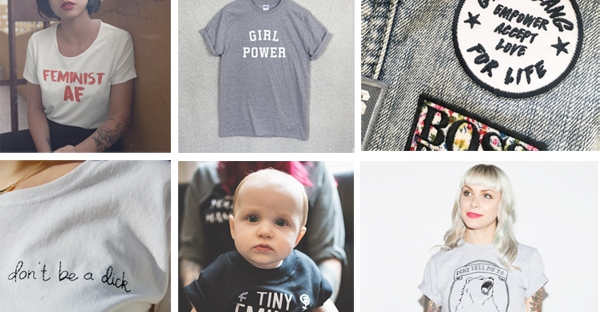 feminist t-shirts from etsy
