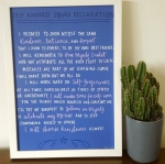 self-kindness squad declaration print from blurt