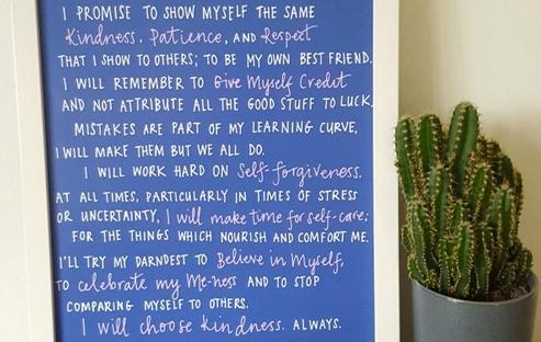 self-kindness squad declaration print from blurt