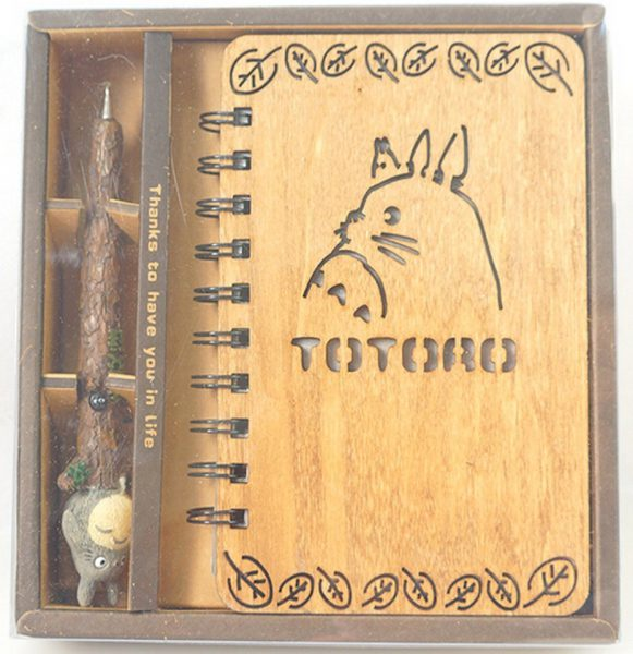 totoro notebook and pen from amazon