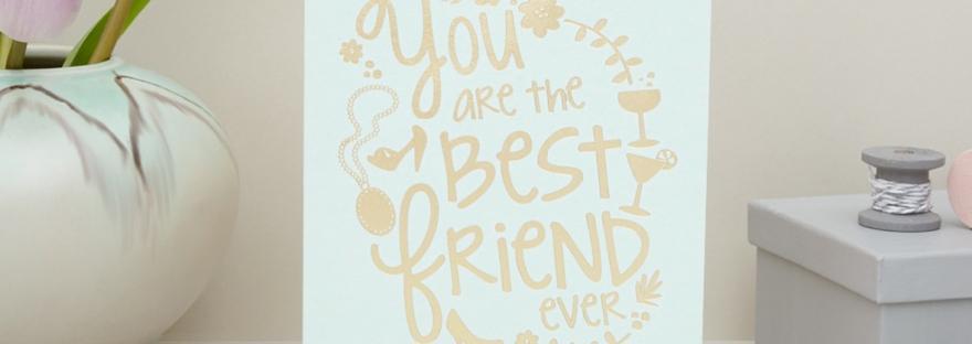 best friend ever card