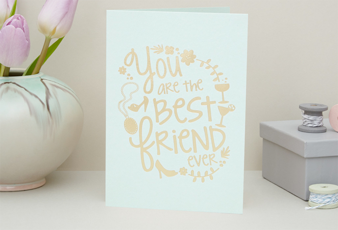 best friend ever card from love raspberry blossom