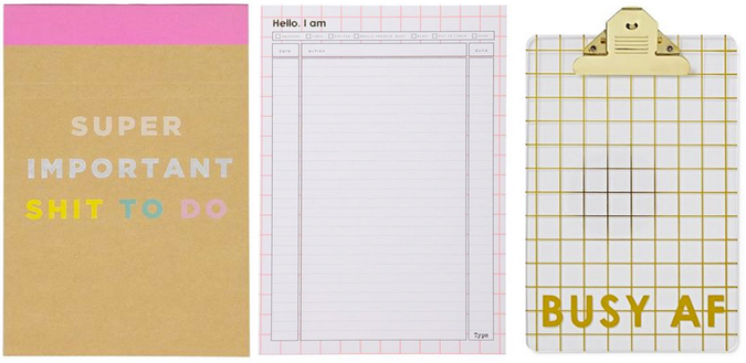 sweary stationery from typo