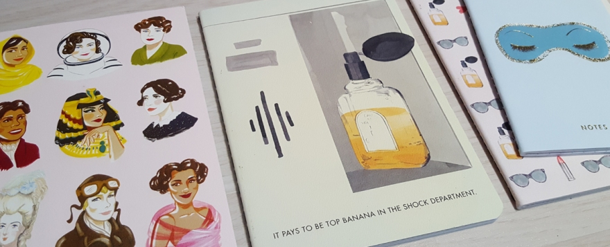 Bad Girls Throughout History and Breakfast at Tiffany's stationery from Abrams and Chronicle