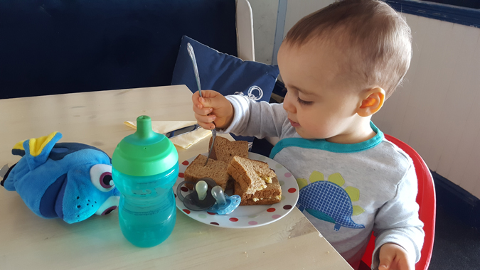 jenson eating lunch