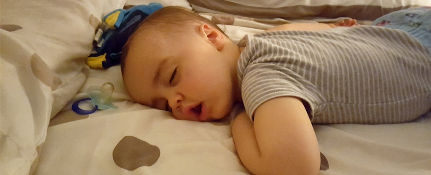 Jenson sleeping two years old