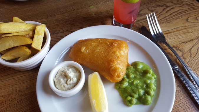 fish and chip tuesday at the mexico inn
