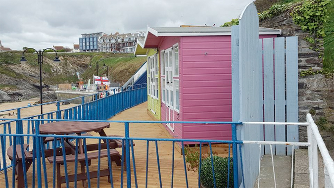 beach huts - newquay