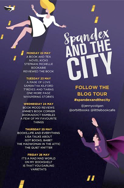 spandex and the city blog tour poster