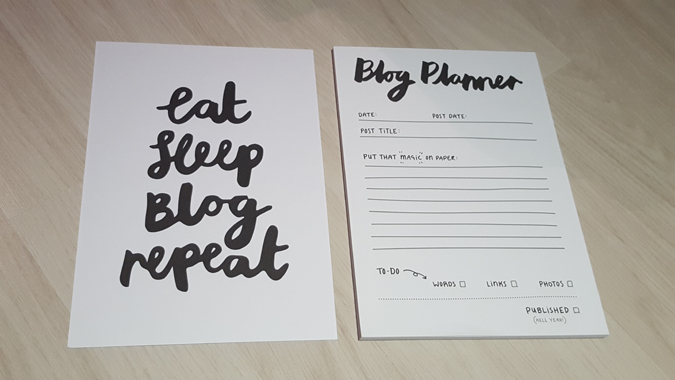 blogging stationery and prints