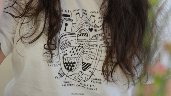 David Shillinglaw x Mind t-shirts from Culture Label