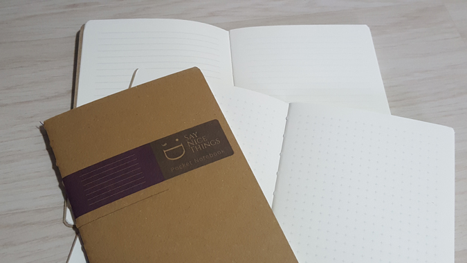 flip notebook from say nice things stationery