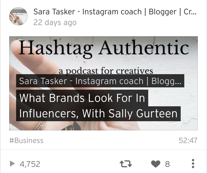 hashtag authentic by sarah tasker