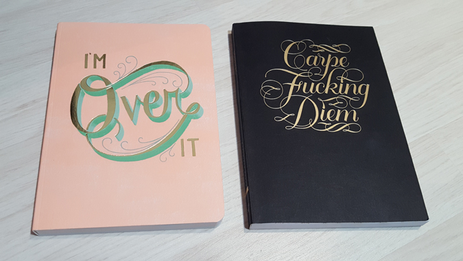 i'm over it and carpe fucking diem journals from abrams + chronicle