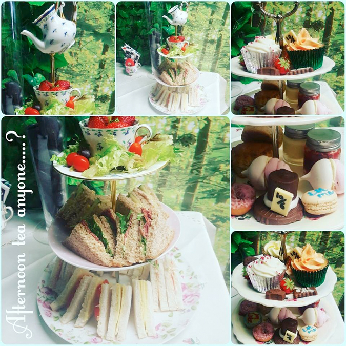 afternoon tea at Curiouser Creations