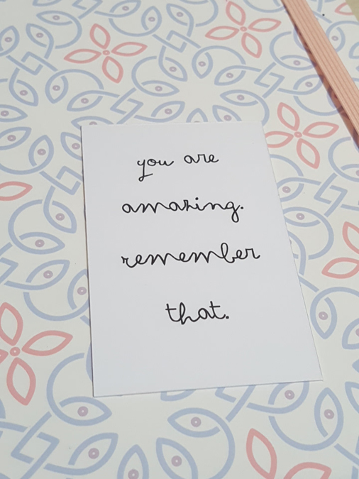 loulou's lovely letters affirmation card