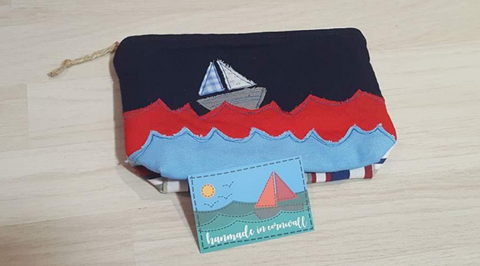 makeup bag from handmade in cornwall