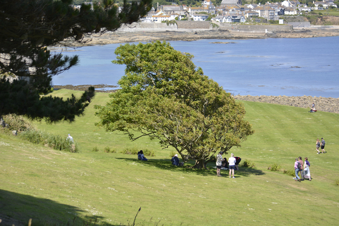 a family day in marazion - st michael's mount