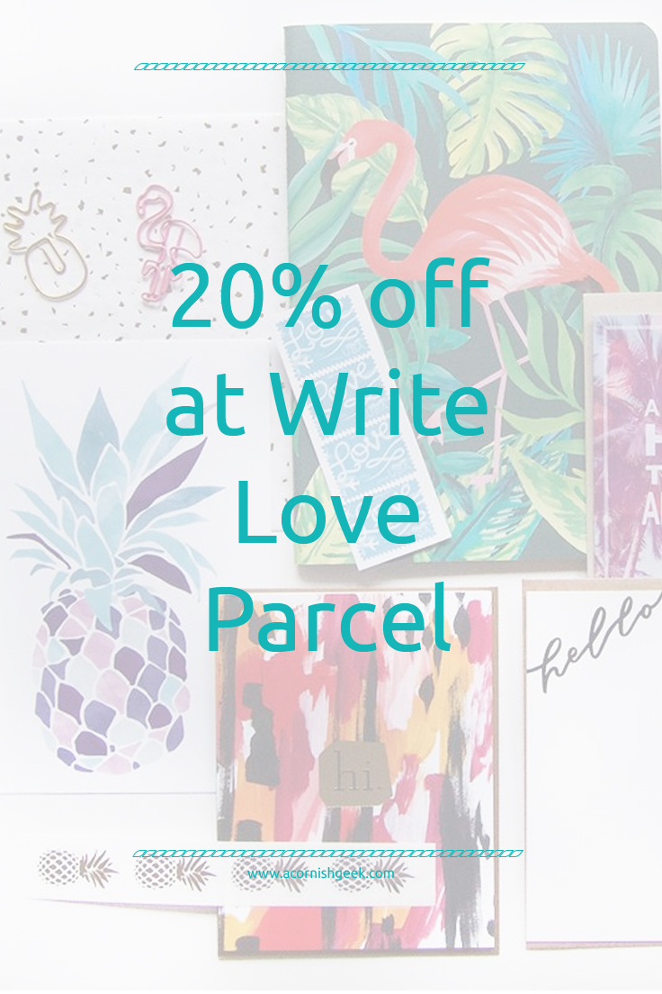 20% off at write love parcel