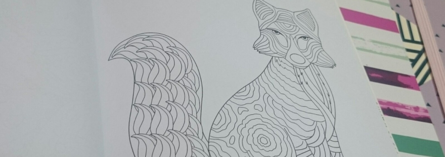 self-care adult colouring