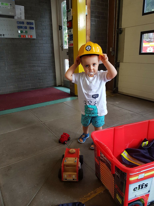 jenson at the fire station