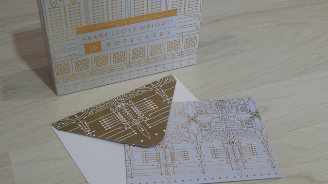 Frank Lloyd Wright notecards from Abrams + Chronicle