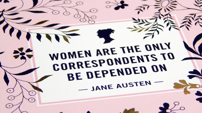 Jane Austen notecards from Abrams + Chronicle
