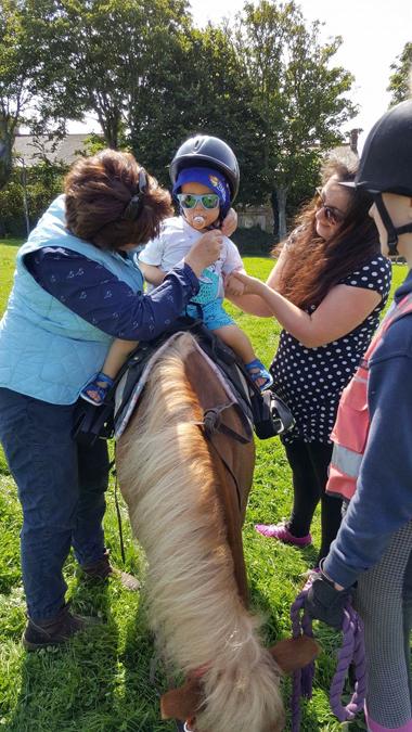 jenson's first pony ride