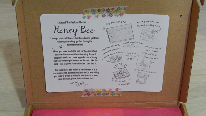 sherbertbox review - honey bee august 2017