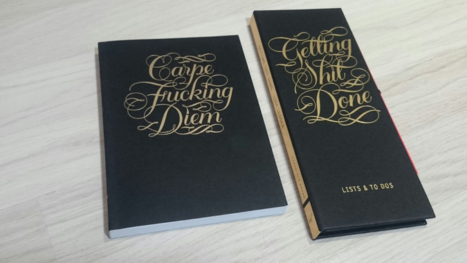 calligraphuck sweary stationery