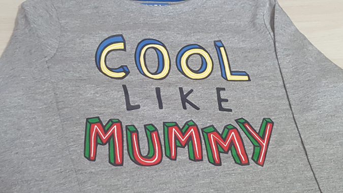 cool like mummy top from Sainsburys