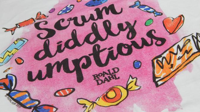 Roald Dahl scrumdiddlyumptious tee from Truffle Shuffle