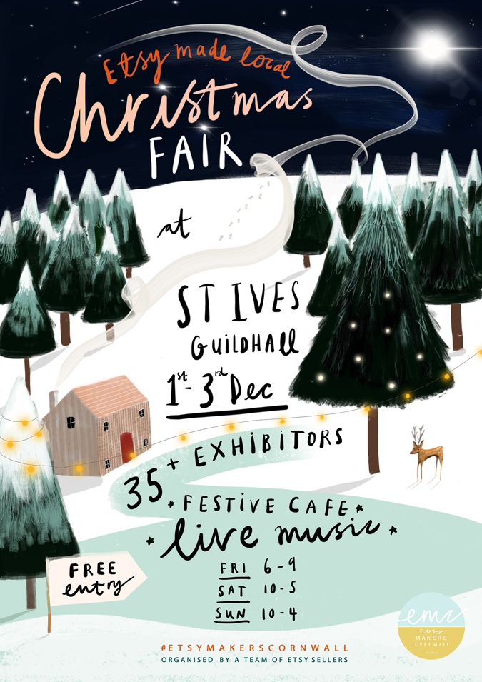 etsy made local St Ives Christmas 2017