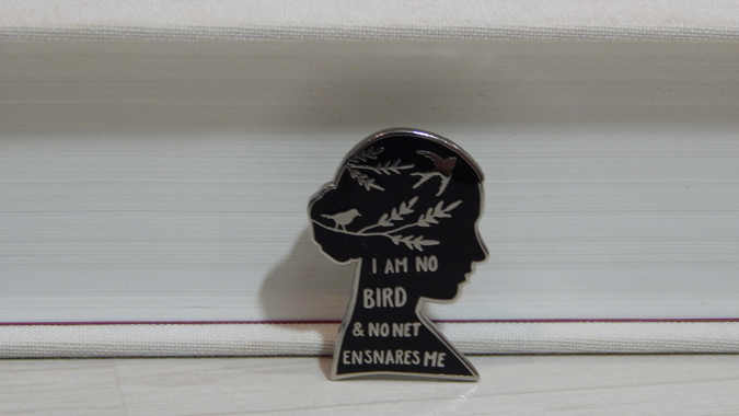jane eyre pin badge from Literary Emporium